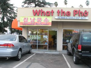 Pho restaurant in California, USA