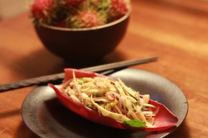 how to make banana inflorescence salad