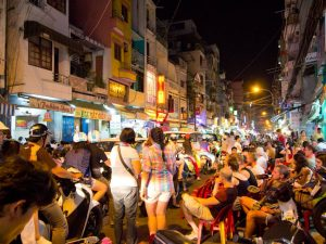 Saigon Turn Bui Vien Street Into Pedestrianize Backpacker Street On Weekend Nights
