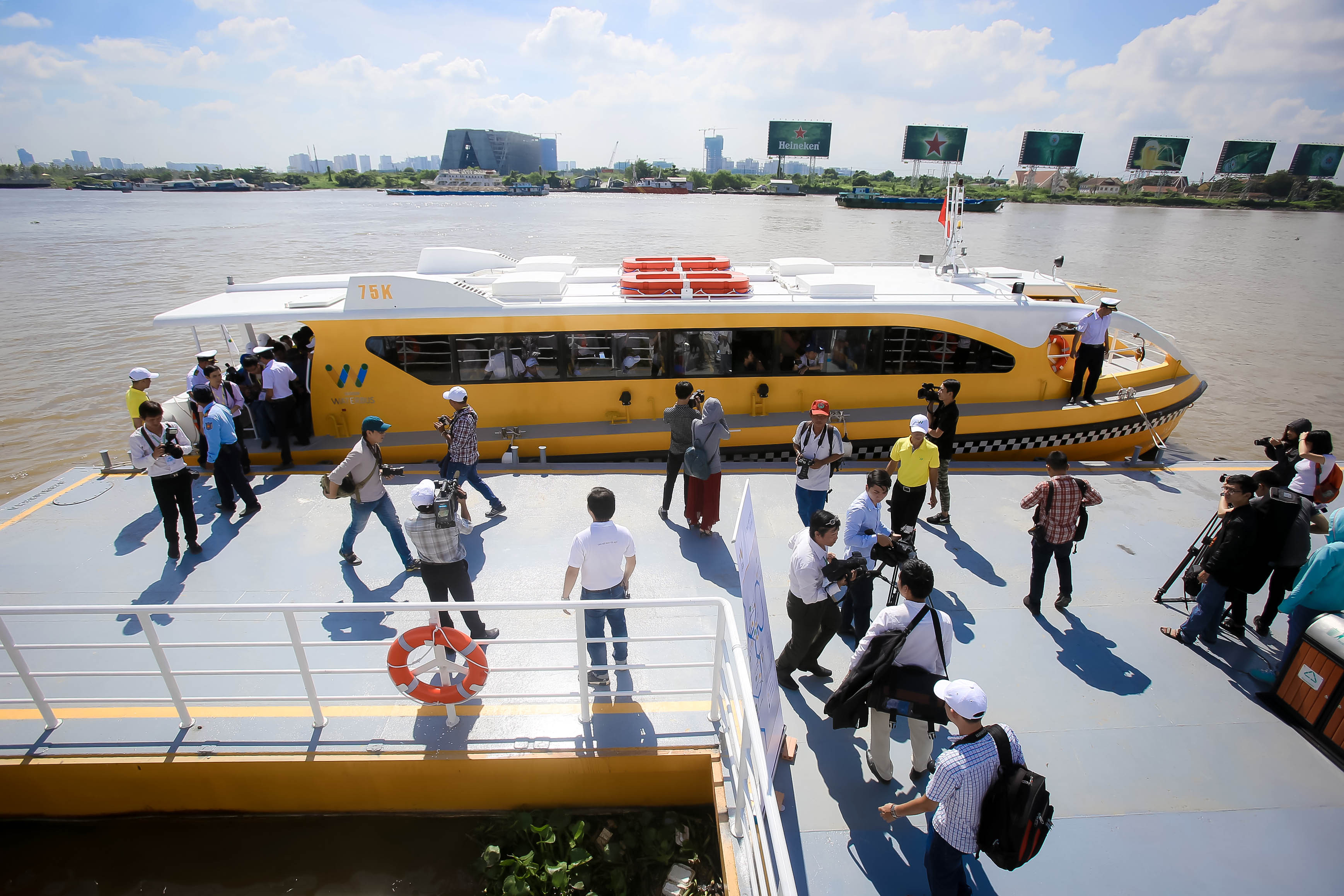 Photos: Saigon's First River Bus Line