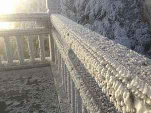 Ice On Fansipan Mountain