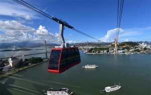 Panorama of Halong city from Queen Slings