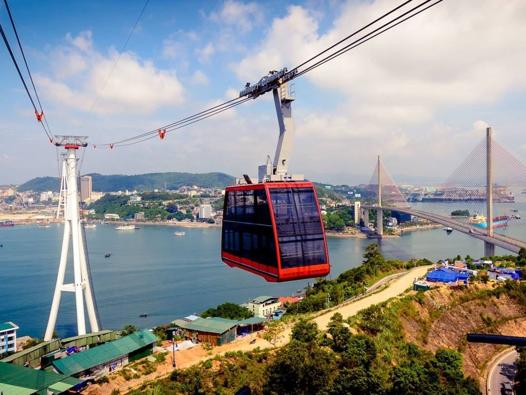 Panorama of Halong city from Queen Slings - Ha Food Tours