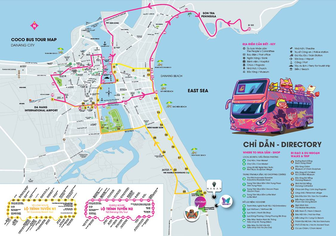 Danang open-top bus
